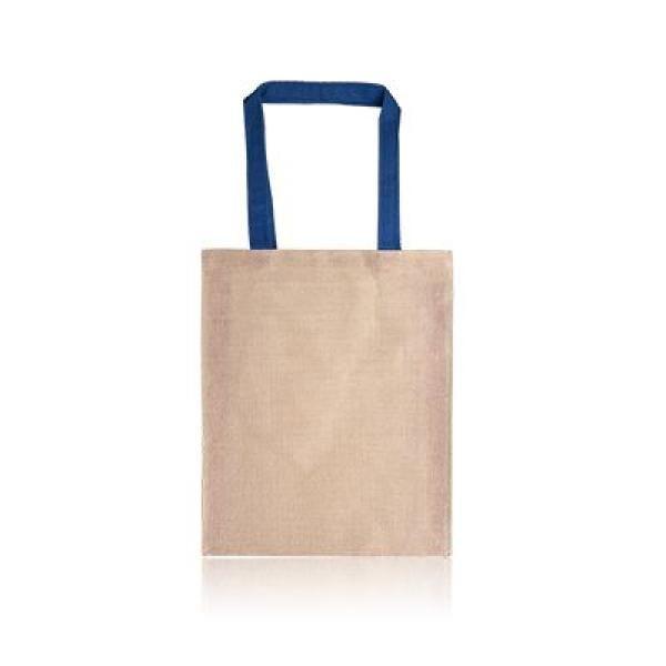 Two Tone Juco Tote Bag Tote Bag / Non-Woven Bag Bags Best Deals Eco Friendly TNW1027_BlueThumb[1]